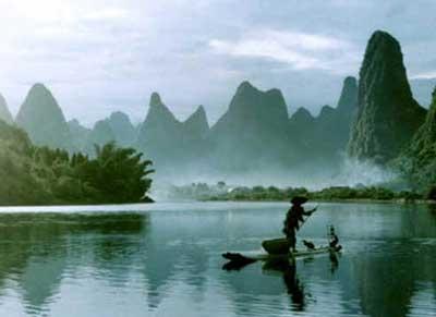 桂林山水风景云海图片